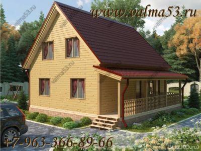 Проект зимнего каркасного дома 9х9 - солнеЧный - вальма53. п.